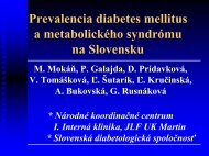 Prevalencia diabetes mellitus a metabolického syndrómu na ...