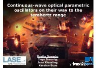 Continuous-wave optical parametric oscillators on their way to the ...
