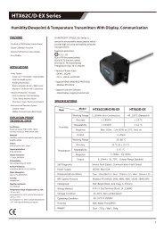 HTX62C-EX Temperature, Humidity Dew-point transmitter