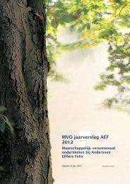 MVO jaarverslag AEF 2012 - Andersson Elffers Felix