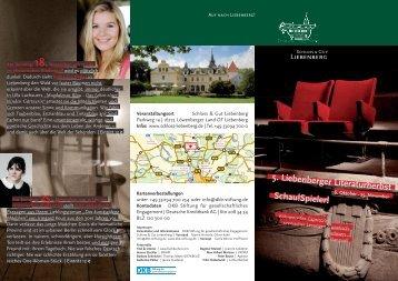 5. Liebenberger Literaturherbst Schau!Spieler! - Schloss und Gut ...
