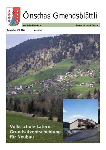 Önschas Gmendsblättli - Gemeinde Laterns