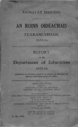 Statistical Report 1933-1934 - Department of Education and Skills