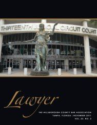 November 2011 Lawyer Magazine - Hillsborough County Bar ...