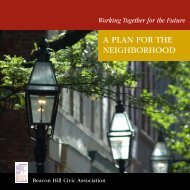 A PlAn for tHe neigHBorHood - Beacon Hill Civic Association