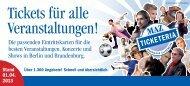 Tickets für alle Veranstaltungen! - Märkische Allgemeine