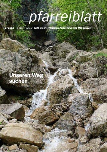 Pfarreiblatt Nr. 02/2013 - Pfarrei St. Martin Adligenswil