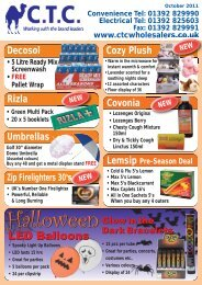 01392 829990 Electrical Tel - CTC Wholesalers