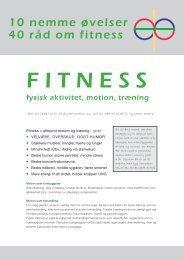 10 Nemme Sundhedsøvelser og 40 Fitnessråd - Marina Aagaard