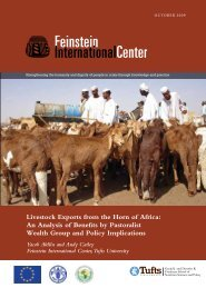 Livestock Exports from the Horn of Africa: An Analysis of ... - celep