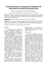 Componentização e Integração de Sistemas de Informação em ...