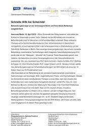 Schnelle Hilfe bei Schwindel - Schlosspark Klinik