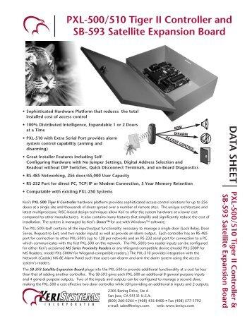 PXL-500/510/593 Data Sheet - Keri Systems