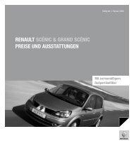 Renault scÉnic & gRand scÉnic PReise und ausstattungen
