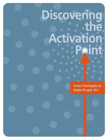 Discovering the Activation Point - Community Catalyst