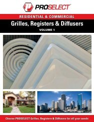 RESIDENTIAL & COMMERCIAL Grilles, Registers & Diffusers