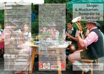 Musikanten- Stammtische in Salzburg - Salzburger Volksliedwerk
