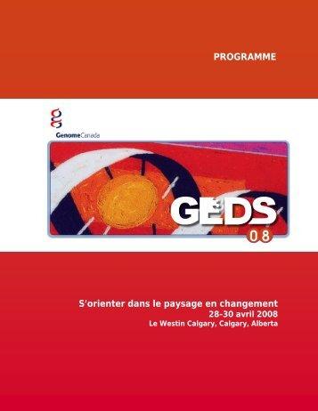Programme - Genome Canada
