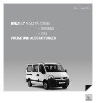 Renault Maste R CoMbi - Minibus - bus PReise und ausstattungen