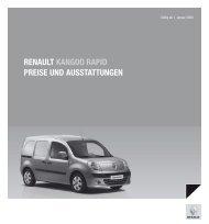 Renault Kangoo Rapid pReise und ausstattungen