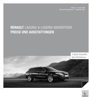 Renault laguna & laguna gRandtouR PReise und ausstattungen 3  ...