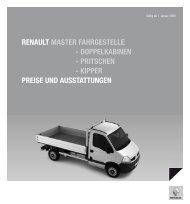 Renault MasteR FahRgestelle - Doppelkabinen - pRitschen ...