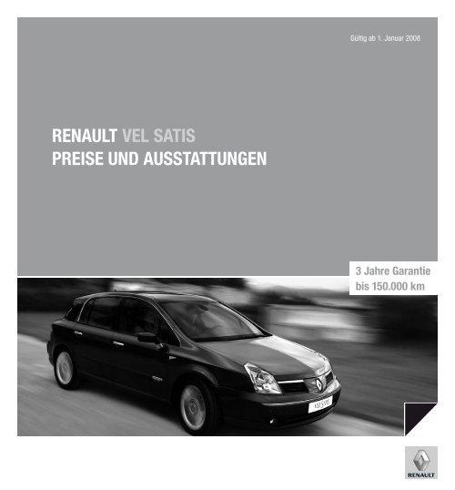Renault vel satis PReise und ausstattungen