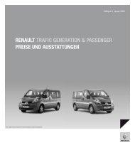 Renault tRafic geneRation & passengeR pReise und ausstattungen