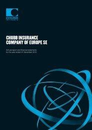 Chubb InsuranCe Company of europe se - Chubb Group of ...