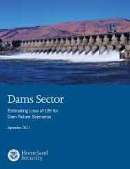 Dams Sector - Association of State Dam Safety Officials