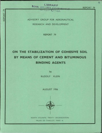 on the stabilization of cohesive soil by means of cement and ...