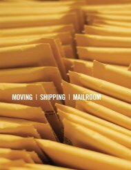 MOVING | SHIPPING | MAILROOM - MDA