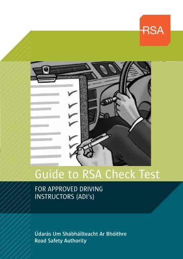 Guide to RSA Check Test (190kB) - Road Safety Authority