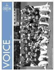 voicethe ma gazine of charlo tte christian school - 2008-09 issue 3 ...