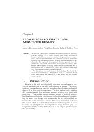Chapter 1 FROM IMAGES TO VIRTUAL AND AUGMENTED REALITY