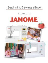 Dowload the beginning sewing ebook - Janome