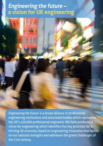 Engineering the future – a vision for UK engineering