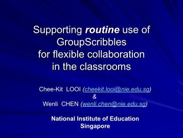Supporting Routine Use of GroupScribbles for Flexible ...