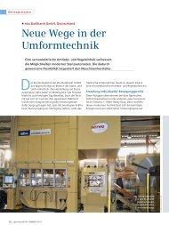 ebu Burkhardt GmbH, Deutschland Neue Wege in der Umformtechnik