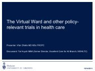 The virtual ward and other policy- relevant trials in health care