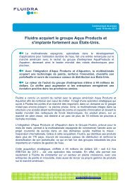 Fluidra acquiert le groupe Aqua Products et s'implante fortement aux ...