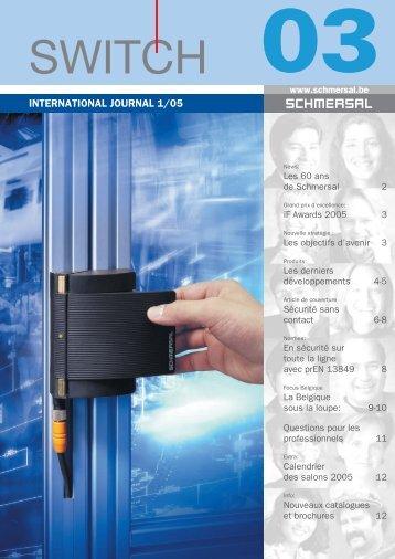 INTERNATIONAL JOURNAL 1/05 - Schmersal