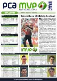 issue 8 - September 2 - The Professional Cricketers' Association