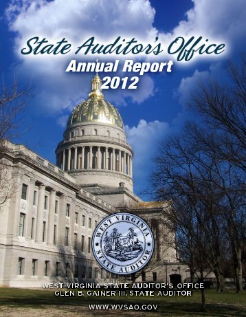 2012 Annual Report - West Virginia State Auditor's Office