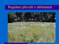 Změny ve složení plevelných společenstev, škodlivost plevelů v ...