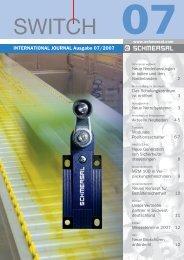 INTERNATIONAL JOURNAL Ausgabe 07/2007 - Schmersal