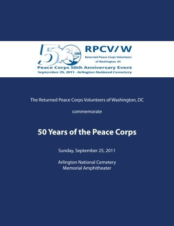 RPCVW 50th Anniversary Event Program - National Peace Corps ...