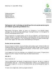 Høringssvar vedr. lovforslag om ændring af lov om social service og ...