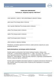 Formularz Konkursowy - KAN-therm