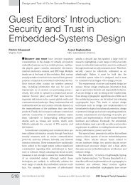 Introduction: Security and Trust in Embedded-Systems ... - IEEE Xplore
